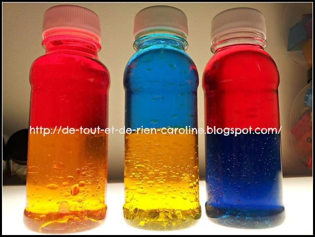 Mélanger les couleurs primaires avec des bouteilles de découverte