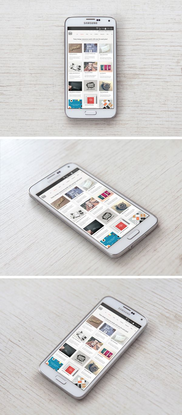 Samsung Galaxy S5 PSD MockUp | GraphicBurger