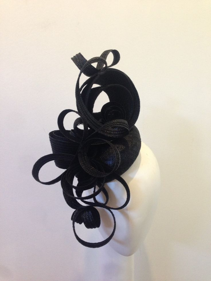 Black fascinator modern elegant one of a kind fashions on the field Derby Day Kentucky Spring Racing Ascot Melbourne Cup Carnival races by ClaireHahn on Etsy https://www.etsy.com/au/listing/468757113/black-fascinator-modern-elegant-one-of-a