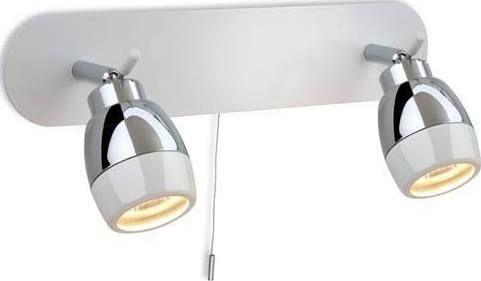 bathroom wall light bar with pull cord