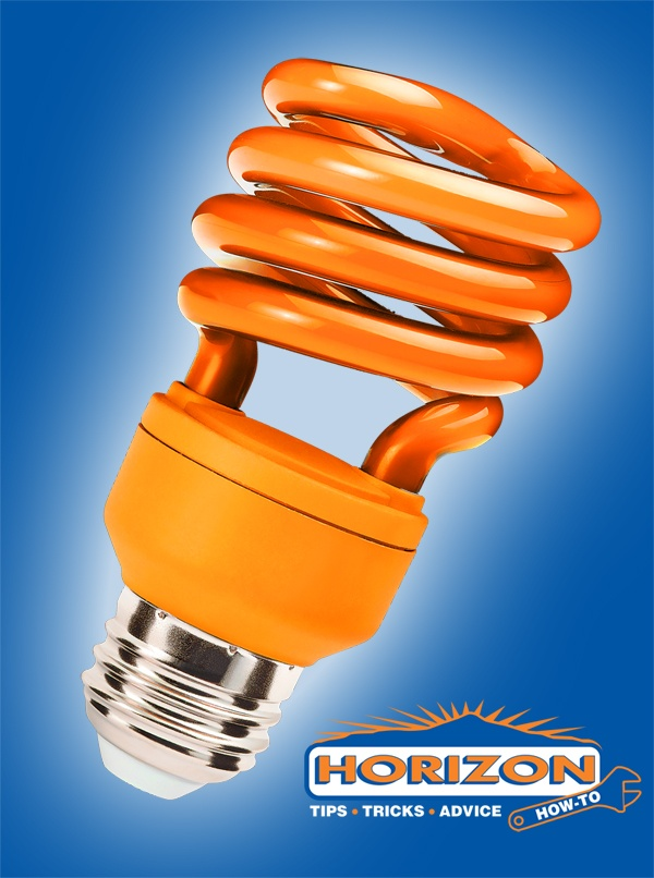 Horizon How-To: Light It Up:    Compact Fluorescent Bulbs (CFLs) use about 75% less energy than traditional bulbs so it makes sense that many homeowners are installing them throughout their homes – but should they be used to replace the ordinary bulb in your garage door opener? While a CFL will not damage your opener and have about a 10x longer lifespan, the electrical interference from the CFL's ballast may reduce the operating range of your transmitter.
