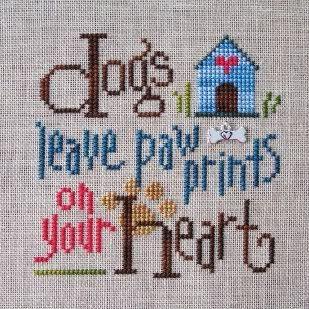 cross stitch pattern popular dogs | ... stitch Dogs Leave Paw Prints by Lizzie Kate for myself and here it is