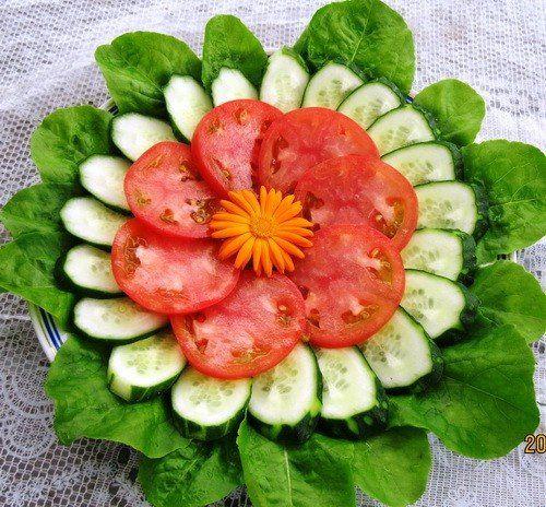 Salata..krastavci i pamodore