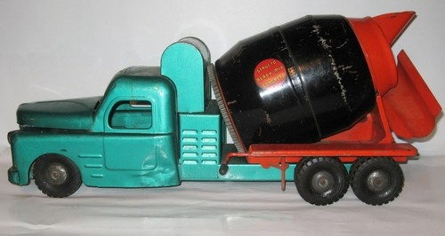 Vintage Structo Ready Mix Concrete Cement Mixer 1950s Era Truck starting price $0.99