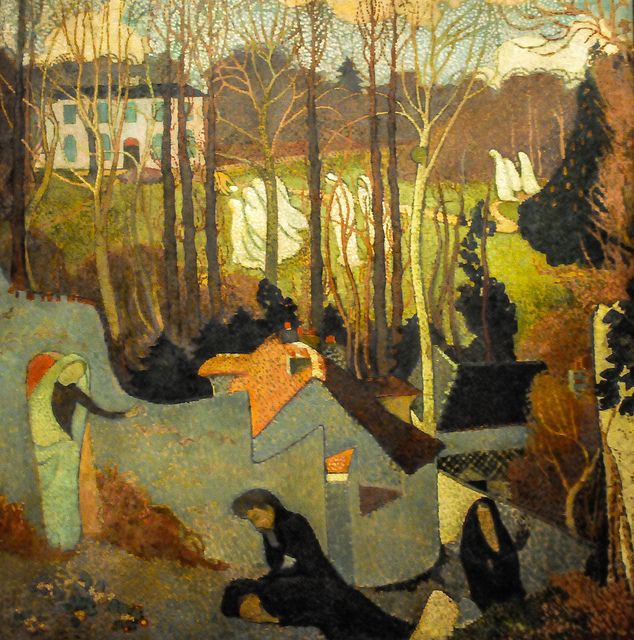 Maurice Denis - Easter Mystery, 1891 at Art Institute of Chicago IL | Flickr - Photo Sharing!