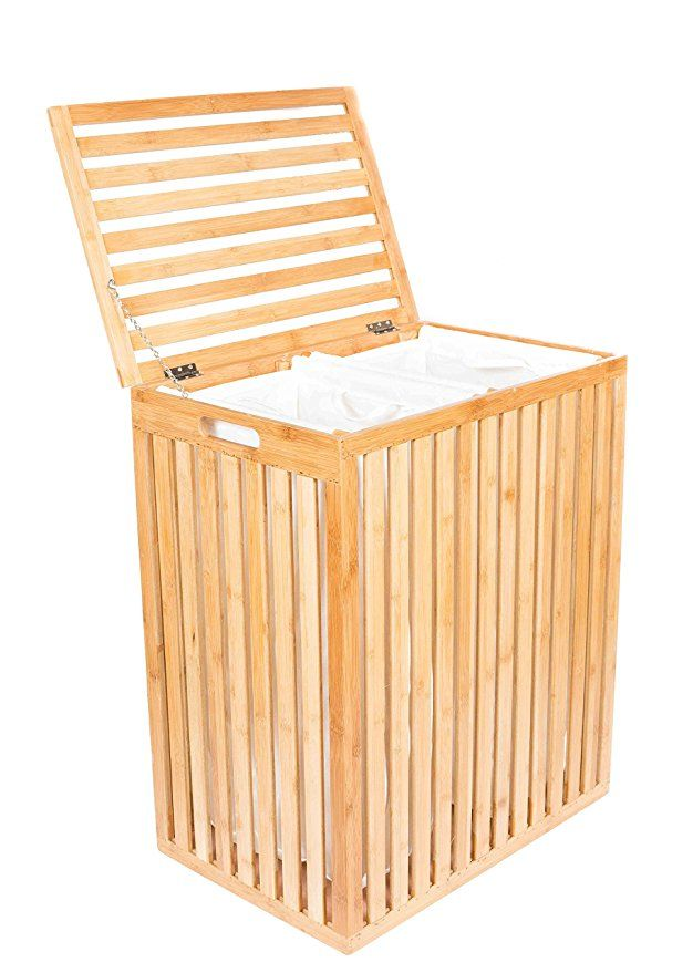 Birdrock Home Clothes Spa Laundry Hamper Made Of Natural Bamboo