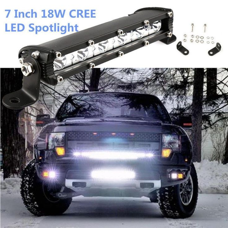 best price isincer 18w car led work light bar for cree chips waterproof offroad car work bulb headlight #truck #light #bar