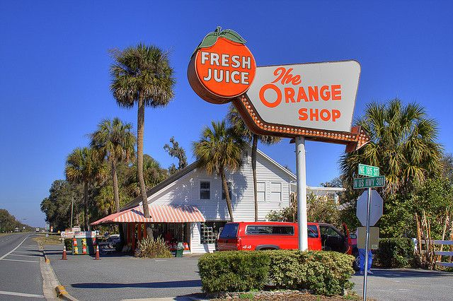 The Orange Shop, just south of Gainesville, Florida.
