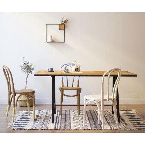 Una mesa de estilo n rdico industrial acabada en hierro - Como hacer una mesa estilo industrial ...
