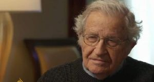 "MIT professor emeritus Noam Chomsky: It's hard to know what to expect under a Trump presidency, but as Chomsky said, ""to have somebody who's kind of a wild man with his finger on the button that could destroy the world or make decisions with enormous influence is an extremely frightening prospect."""