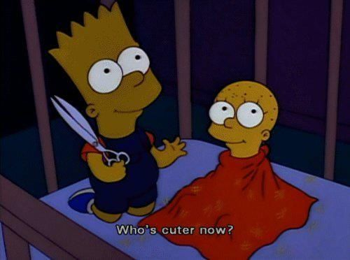 Who is cuter now funny quotes quote simpsons funny quotes the simpsons bart lisa tv television tv shows television shows cartoons