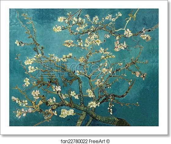 Free art print of Almond Blossoms by Vincent Van Gogh