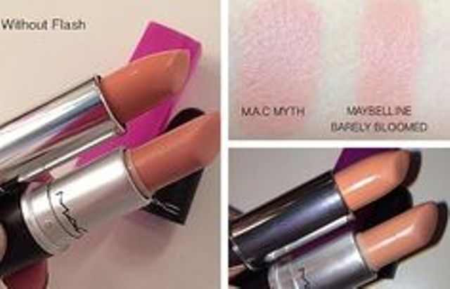 Dupe Series #2 : MAC Myth Dupes  <3 http://www.glossypolish.com/dupe-series-2-mac-myth-dupes/  Cheap alternatives / #dupes of the MAC MYTH lipstick ;) #macmyth #dupe
