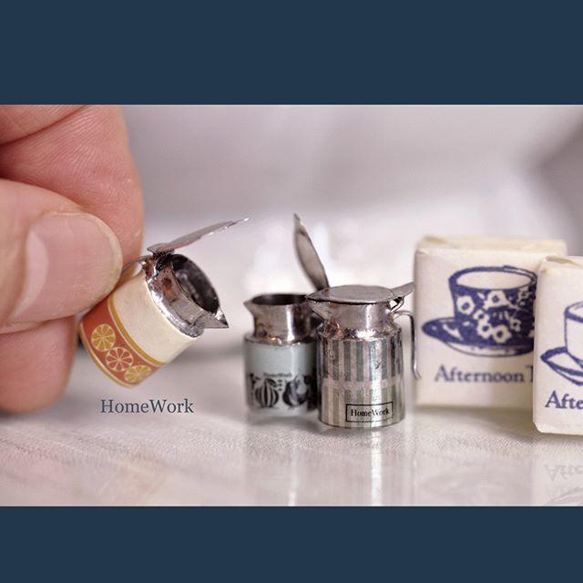#homework #miniature #art #pot #retro #tin #tinplate #ミニチュア #ポット #水差し #ブリキ #金属 #はんだ #半田 #はんだ付け #レトロ #handmade #手のひらの上の世界