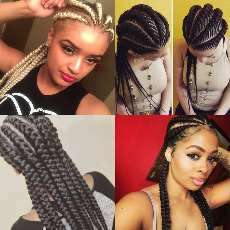 "Ghana Braids (also known as ""banana braids"") is a style that has been around for a while and is currently bubbling over with folks around the globe. The style is essentially your traditional cornro..."