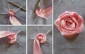 Картинки по запросу вышивка розы лентами мастер класс ...