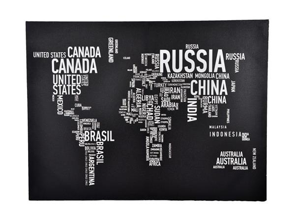 Word World Map Canvas - Parnell from Harvey Norman New Zealand