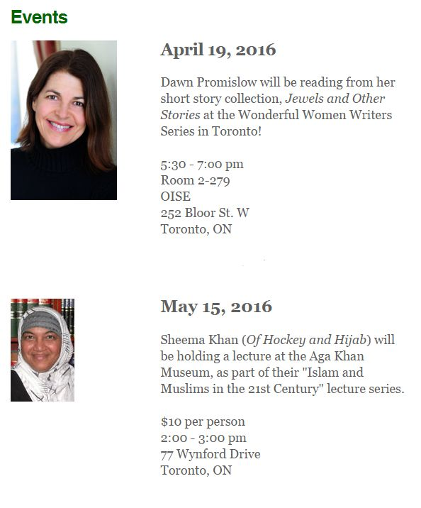 Two news events this April/May. Don't miss out!