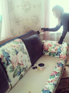 Redo and old couch!! So cool