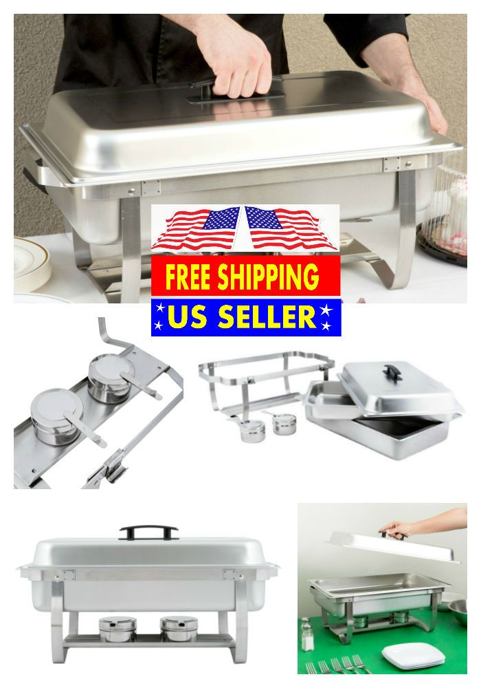 6 PACK CATERING STAINLESS STEEL CHAFER CHAFING DISH SETS 8 QT FULL SIZE BUFFET | Business & Industrial, Restaurant & Catering, Tabletop & Serving | eBay!