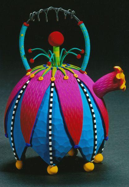 Rebecca Mazur (aka Zimmerman), Untitled Teapot, 2001, 9″h x 7″w x 7″d