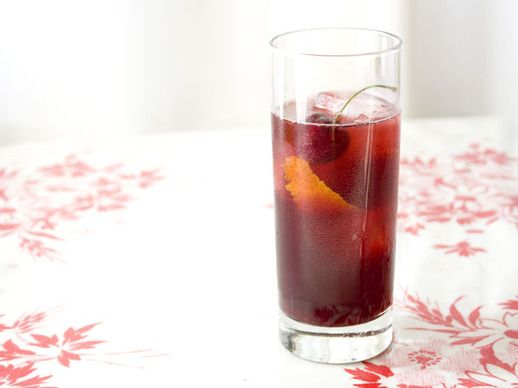 Drinking in Season: Lillet Rouge and Cherry Cocktail