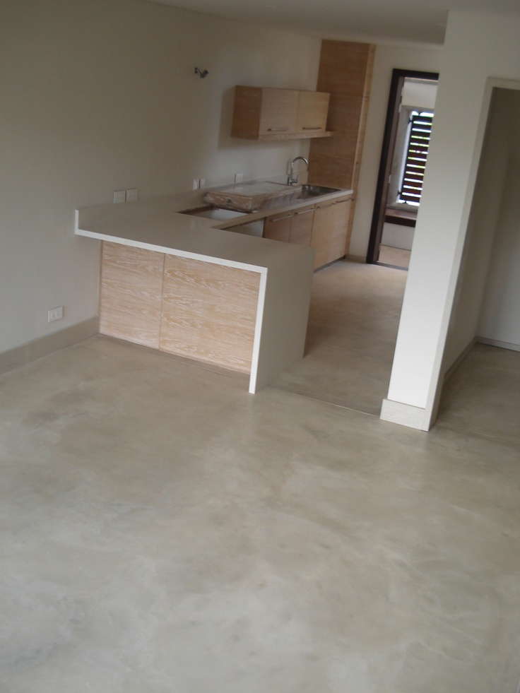 Cement Floor - Colour Hardener STONE/ La Balise Marina Development #cement #floor #concrete #cemtech