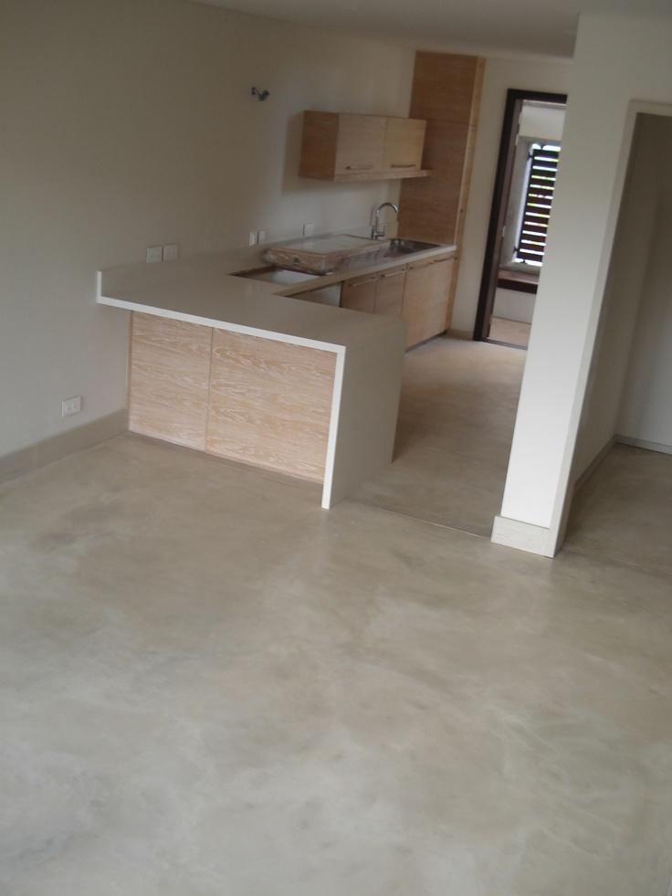 Cement Floor - Colour Hardener STONE/ La Balise Marina Development #cement #floor #concrete #cemtech