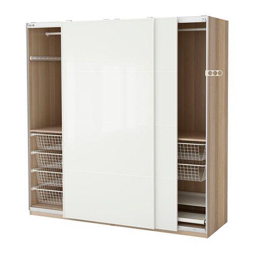IKEA - PAX, Garderobeskap, dørdemper som gir myk lukking, 200x66x201 cm, , 10 års garanti. Les om vilkårene i garantiheftet.I PAX-planleggeren kan du enkelt tilpasse denne ferdige PAX/KOMPLEMENT-kombinasjonen etter behov og smak.Med skyvedører har du plass til flere møbler, fordi de ikke tar opp ekstra plass når de åpnes.Lukkemekanismen fanger dørene, slik at de lukkes sakte og stille.Hvis du vil organisere innsiden, kan du supplere med innredning fra KOMPLEMENT-serien.Justerbare føtter…