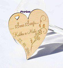 Darčeky pre svadobčanov - Minisrdiečko s magnetkou vzadu - Sme svoji 1B - Akciová cena - 7191289_