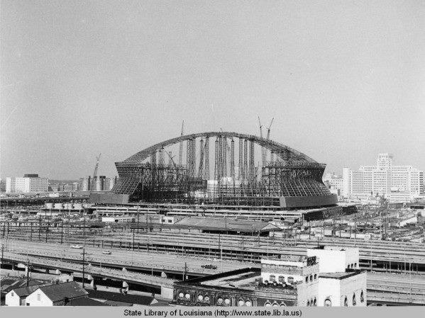 Superdome Construction Just Beginning 1971 Opening To
