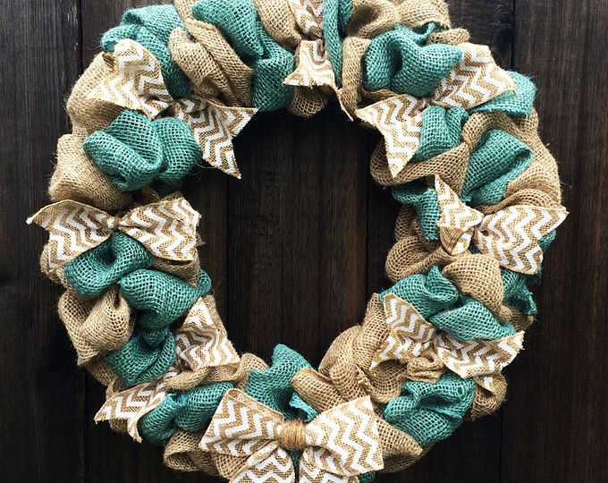 Burlap Wreath, Everyday Wreath, Chevron Wreath, Front Door Decor, Front Door Wreath