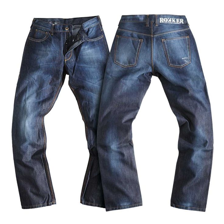 Rokker Revolution Waterproof Jeans - Stonewash Blue | Motorcycle Trousers | FREE UK delivery - The Cafe Racer