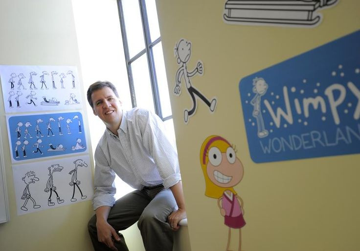 """Jeff Kinney: $24 million Written for children and younger adolescents, Kinney's """"Diary of a Wimpy Kid"""" series has spawned seven installments (with No. 8 due in November 2013) and three theatrical films. """"The Third Wheel"""" sold more than 1.4 million copies last year. (AP Photo/Gretchen Ertl) Source: Forbes The Top-Earning Authors Of 2013"""