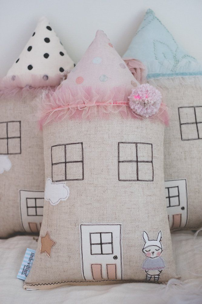 House Shaped Cushion Made From High Quality Gauze And