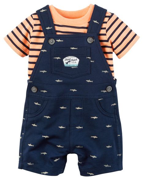 Baby Boy 2-Piece Neon Top & Shortalls Set from Carters.com. Shop clothing & accessories from a trusted name in kids, toddlers, and baby clothes.
