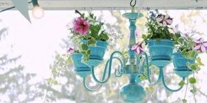 Make Your Darling Outdoor Chandelier Planter on a Budget!  Diddlium  I don't know about you, but I think this is the coolest idea! I got busy looking at thrift stores and garage sales to find my chandelier so I could create this master piece! I finally found one and was elated! I think this ...