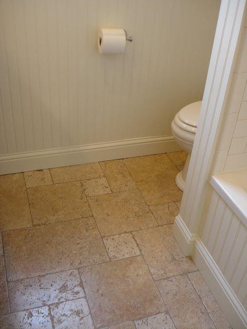 travertine floor in Versailles pattern