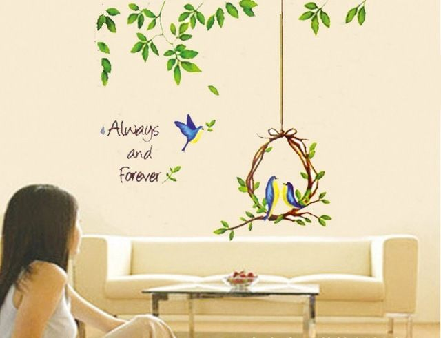 We love it and we know you also love it as well Green Trea Leaf Lovely Birds Nest Home Wall Sticker Removable just only $3.91 with free shipping worldwide  #wallstickers Plese click on picture to see our special price for you