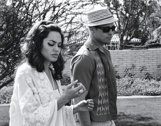 Photos: Brad and Angelina: Domestic Bliss - Black and white, Brad and Angelina in vintage