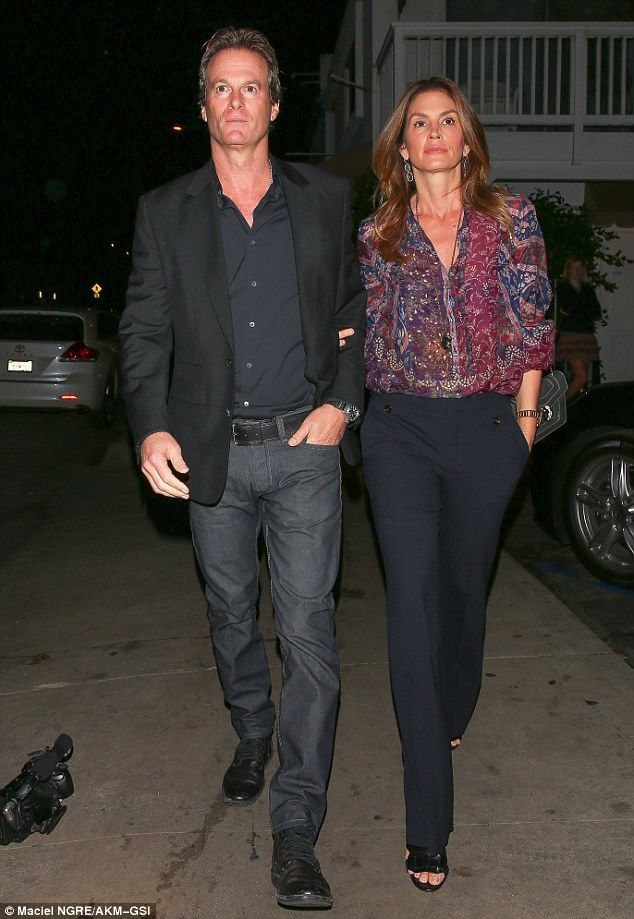Pals: The pair had good company on the night in the form of their close friends, supermodel Cindy Crawford and her husband Rande Gerber