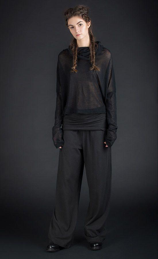 BAYMO - wide leg black pants | Studio B3 |