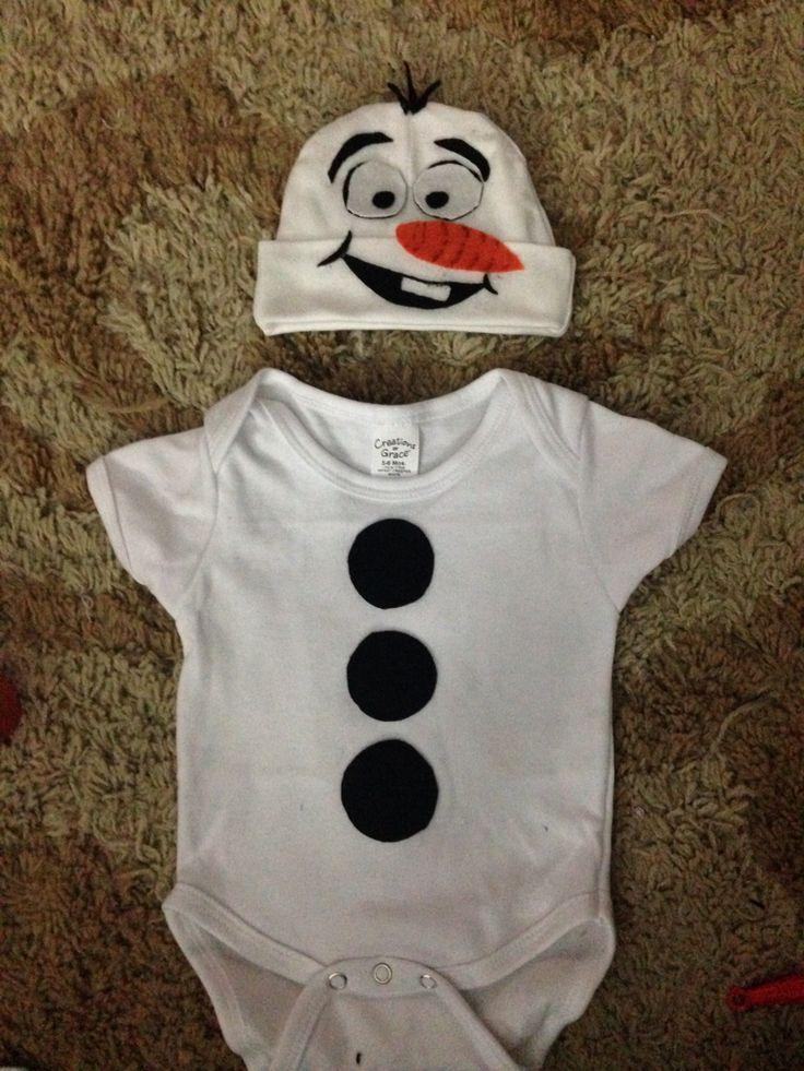 "DIY newborn ""Olaf"" costume"