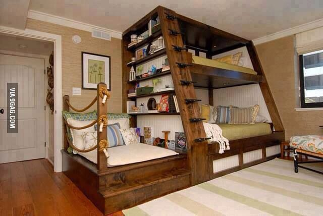 3 Person Bunk Bed Sailor Themed Hobo Kids Room Pinterest