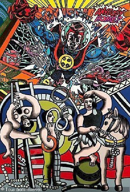 Anybody Home (Hommage à Fernand Léger)  1990  ERRO, dimensions : 146 x 197 cm, peinture acrylique sur toile