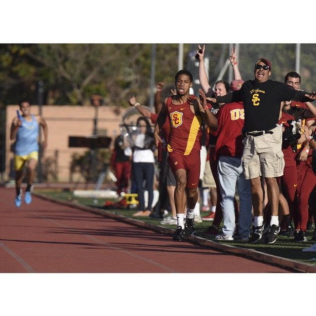 For the first time since 2010, USC Track & Field swept crosstown rivals UCLA, clinching the victory on the final leg of the last event. #UltimateRivalry #FightOn