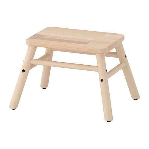 IKEA - VILTO, Step stool, birch, , Birch is fine-grained and pale in color with a satin-like sheen that darkens with age. Birch often has knots or heartwood in cream or light brown giving a distinctive, natural look to your furniture.
