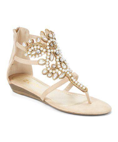 2b2c8559d69d7b Blush Rhinestone Gladiator Sandal - from Zula Shoes