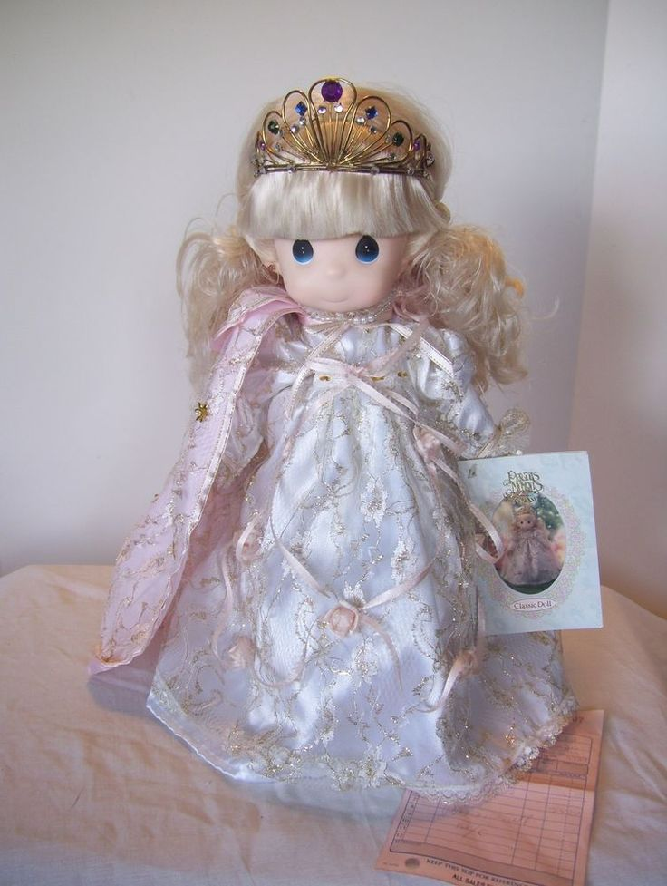 """PRECIOUS MOMENTS 1992 16"""" PRINCESS MELODY DOLLS OF THE MONTH CLASSIC"""