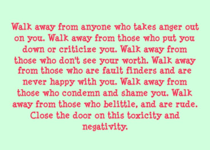 Walk Away From Negativity Agcrewall